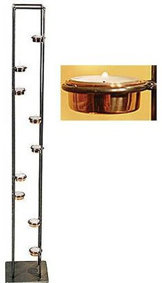 "New York Candle Holder - 9 Light (Copper/Steel) (41""H)"
