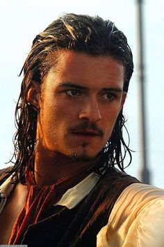 .Orlando Bloom as Will Turner in Pirates of the Caribbean.