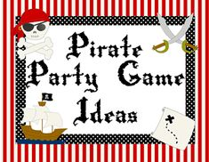 pirate party games - walking the plank, cannon-ball poping, dodge the sharks, obstacle course, treasure hunt and good party prize ideas Pirate Day, Pirate Birthday, Pirate Theme, Birthday Bash, Birthday Ideas, Birthday Parties, Pirate Activities, Pirate Games, Pirate Party Snacks