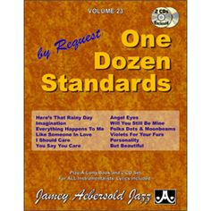 Vol. One Dozen Standards - By Request (Book & CD Set) (Jazz Play-A-Long for All Instrumentalists) Everything Happens To Me, Long Books, Ways Of Learning, Liking Someone, Booklet, Jazz, Songs, Shit Happens, Play
