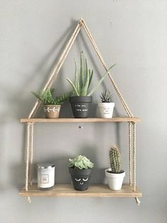 Phenomenon Diy Hanging Shelves For Simple Storage And Beautiful Decor Ideas . deko ideen Phenomenon Diy Hanging Shelves For Simple Storage And Beautiful Decor Ideas . - Home Decor Art Diy Hanging Shelves, Wooden Shelves, Rope Shelves, Storage Shelves, Shelving Ideas, Salon Shelves, Shelf Ideas, Pallet Shelves Diy, Diy Wall Shelves