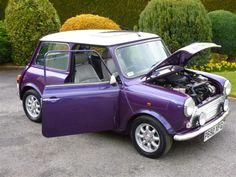 Purple Mini Cooper - I want one Mini Paceman, Mini Clubman, Mini Cooper Classic, Classic Mini, Mini Cooper Accessories, Car Goals, Smart Car, Bike Art, Top Gear