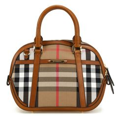 07796d29a730 Brand New Authentic Burberry Small Orchard Small Orchard In Sartorial House  Check Burberry Fabric Bowling Brown Ochre Burberry Bags