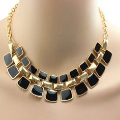 Black Fashion Necklace Fashion Statement Necklace Fashion Jewelry Necklaces