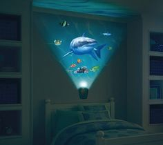 Chic Kids Bedroom Wall Decorations Ideas That Will Make Fun Your Kids Room - The interior decorating and decor of a bedroom largely depends upon it's function. There are mainly 4 types of bedrooms in a typical home plan. Shark Bedroom, Bedroom Wall, Kids Bedroom, Shark Nursery, Boys Bedroom Themes, Geek Gadgets, My New Room, Boy Room, Underwater