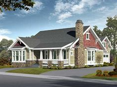 Craftsman Bungalow with Options - 2340JD | Cottage, Craftsman, Northwest, Narrow Lot, Photo Gallery, 1st Floor Master Suite, Bonus Room, CAD Available, PDF | Architectural Designs