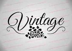 Stencil, Shabby Chic, Furniture, Fabric, French, Vintage Rose (A5 Size)