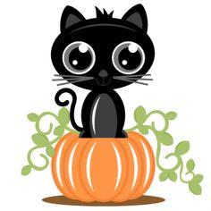Cat On Pumpkin SVG cutting files for scrapbooking cat svg cut file cat scal file free svgs cricut machines
