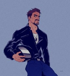 Gabriel Reyes by Character Concept, Character Art, Character Design, Overwatch Reaper, Overwatch Memes, Dream Daddy Fanart, Art Of Man, Poses, Character Inspiration