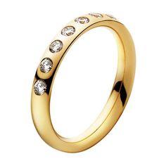 Georg Jensen Magic Ring yellow gold or white? Both lovely!!