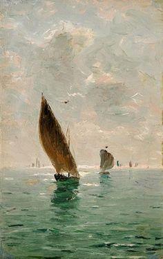 "Nikolai Nikanorovitch Doubovskoï (1859-1918) ~ ""Sailing boats"""