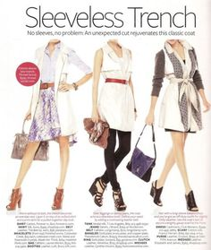 the sleeveless trench dress...just bought a navy one