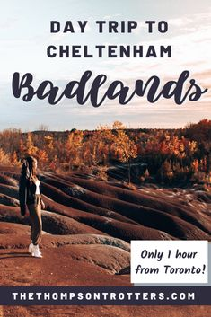 Check out the Ontario Cheltenham Badlands - less than an hour drive from Toronto with the most epic views! Ontario Travel, Toronto Travel, Alberta Canada, Canada Ontario, Ottawa, Quebec, Cheltenham Badlands, Travel Guides, Travel Tips