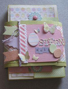 "paperandco: Minialbum ""Ostern"" (pasqua) Album, Mini Books, Frame, Decor, Easter, Picture Frame, A Frame, Decorating, Dekoration"