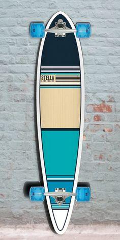 Aqua Blue Classic Stella Pintail Longboard 46 inch 09701f3113e