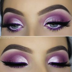 Gorgeous Makeup: Tips and Tricks With Eye Makeup and Eyeshadow – Makeup Design Ideas Purple Eye Makeup, Colorful Eye Makeup, Purple Eyeshadow Looks, Makeup Geek, Eyeshadow Makeup, Eyeliner, Eyeshadows, Makeup Remover, Makeup App