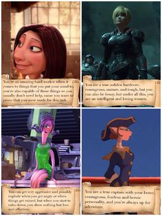 What your favorite disney female says about you.