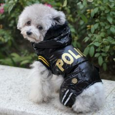New clothes for dogs police jacket warm winter dog coat for Chihuahua Yorkshire Pitbull Poodle dogs cats free shipping $8.90 - 10.90