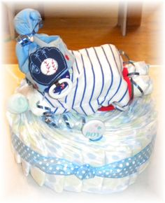 Baby Shower Diaper Baby & Cake by thecraftersgarden on Etsy