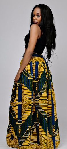 the TITI maxi skirt. African print maxi skirt with 2 side pockets and zipper at the back. The skirt is fully lined.   Made with 100% cotton high quality African print wax fabric and 100% cotton lining.   Skirt measures 45 inches long Ankara | Dutch wax | Kente | Kitenge | Dashiki | African print bomber jacket | African fashion | Ankara bomber jacket | African prints | Nigerian style | Ghanaian fashion | Senegal fashion | Kenya fashion | Nigerian fashion | Ankara crop top (affiliate)