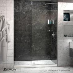 DreamLine Linea 30 in. x 72 in. Semi-Framed Fixed Shower Door in Brushed Nickel-SHDR-3230721-04 - The Home Depot