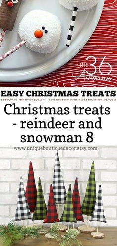 Christmas treats - reindeer and snowman 8 - Marissa Nguyen - Christmas treats - ... , #Christmas #christmasDessertseasyreindeer #Marissa #Nguyen #Reindeer #Snowman #Treats