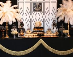 There are many Gatsby Party Ideas that you can try on our current articles, check this out. So if you're prepared to party this up, Gatsby-style The Great Gatsby, Great Gatsby Motto, Great Gatsby Wedding, Trendy Wedding, Speakeasy Wedding, Great Gatsby Themed Party, Gold Wedding, 1920s Wedding, Themed Parties