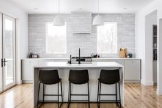 Designing Brick Kitchens for Your Style Home   Fireclay Tile Kitchen Flooring, Kitchen Backsplash, Kitchen Island, Entryway Flooring, Kitchen Sync, Kitchen Interior, Kitchen Design, Kitchen Ideas, Kitchen Redo