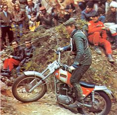 Old school trial with Ossa bike
