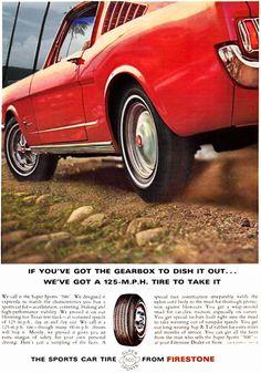Firestone Sports Car Tires 1960s | Vintage Cars Advertisement