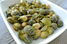 Maple-Dijon Brussels Sprouts: Sweet and tender Brussels sprouts that the whole family will love!