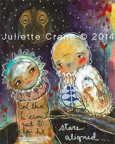 Stars Aligned - 8x10 inch Print of a Reproduction of the Original Mixed Media Painting by #juliettecrane