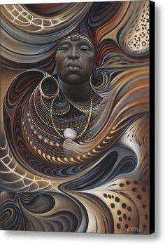 Peinture africaine - African Spirits I par Ricardo Chavez-Mendez Afrique Art, Psy Art, Bild Tattoos, Black Artwork, Black Women Art, Art Women, Black Man, African American Art, Love Art