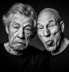 rhubarbes:  Ian McKellen and Patrick Stewart. (via Ian McKellen)