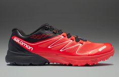 Salomon S-Lab Sense Ultra - Mens Running Shoes - Black-Dark Red