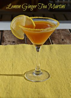 Lemon Ginger Tea Martini is a great party drink!