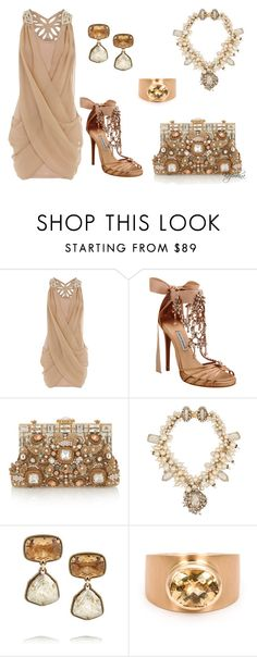 """""""Party in Nude"""" by kazemkina on Polyvore featuring Dorothy Perkins, Tabitha Simmons, Dolce&Gabbana, Erickson Beamon, Lanvin and Irene Neuwirth"""