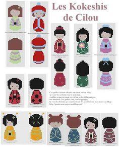 kokeshis de Cilou