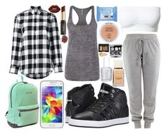 """""""My ootd, ootd, school day, my day, day"""" by icy-frappe on Polyvore featuring adidas, Golden Goose, JWorld, Samsung, Neutrogena, Essie, NARS Cosmetics, David Jones, Lime Crime and Urban Decay"""