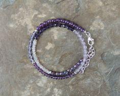 Purple Bracelet for Women, Amethyst Bracelet, Wrap Bracelet for Her, Boho Bracelet for Her, Double Wrap Gemstone Bracelet Boho Wrap Bracelet by lelizabethjewelry on Etsy https://www.etsy.com/listing/568835184/purple-bracelet-for-women-amethyst