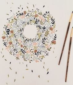 beautiful watercolor illustrations by Shannon Kirsten Watercolor Flowers, Watercolor Paintings, Illustrations, Illustration Art, Watercolor Lettering, Painting Inspiration, Journal Inspiration, Art Inspo, Design Inspiration