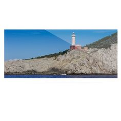 East Urban Home 'Happy Lighthouse' Photographic Print on Metal