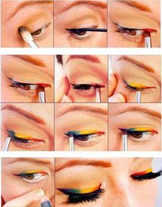Rainbow in your eyes! Iata un makeup foarte colorat, care va atrage toate privirile! #rainbow #makeup Tu ai incerca acest makeup?