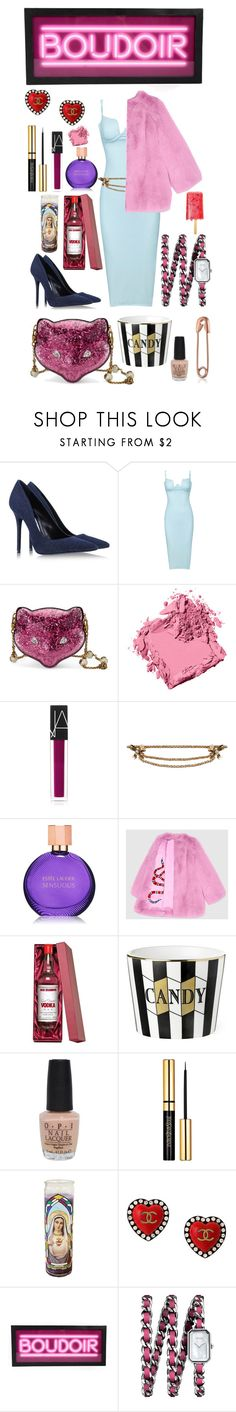"""""""Sour Cherry."""" by thestylecouncil ❤ liked on Polyvore featuring Acne Studios, Gucci, Bobbi Brown Cosmetics, NARS Cosmetics, Estée Lauder, OPI, Chanel, Pink, fur and fashionset"""