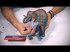 Aprendiendo con Guara - YouTube Buddha Garden, Elephant Figurines, Decoupage Vintage, Mandala Painting, Stick Figures, Stained Glass Art, Feng Shui, Arts And Crafts, Paper Mache