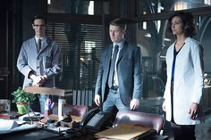 Edward Nygma Detective James Gordon and Dr Leslie Thompkins have information for Captain Essen in the 'The Blind Fortune Teller' episode of GOTHAM...