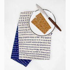 Tea Towel  Abacus in Inky Blue by skinnylaminx on Etsy