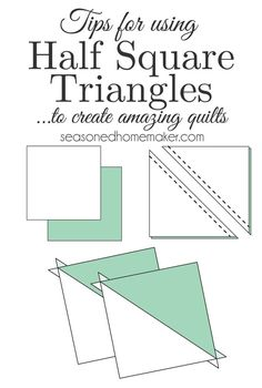 Did you know that Half Square Triangles are one of the most basic quilting blocks and can be used to create very complex blocks. From thistechnique alone a ton of designs can be created like Chevrons, Flying Geese, Herringbone, and ZigZag Path.  #halfsquaretriangles #qultinghst #whatishst #easyquilting