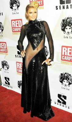 Paris Hilton Wears a Sheer-to-There Dress: See the Pic! Paris Hilton at the Annual Red Carpet Pr Paris Hilton, Simple Dresses, Sexy Dresses, Versace Dress, Halle Berry, Sheer Dress, Beautiful Celebrities, Celebrity Style, Sexy Women