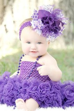 Purple Passion Over the Top Hair Bow Starting young not waiting till old age to wear purple Love this purple Purple Love, Purple Rain, Mode Purple, All Things Purple, Purple Lilac, Shades Of Purple, Deep Purple, Pink, Purple Stuff